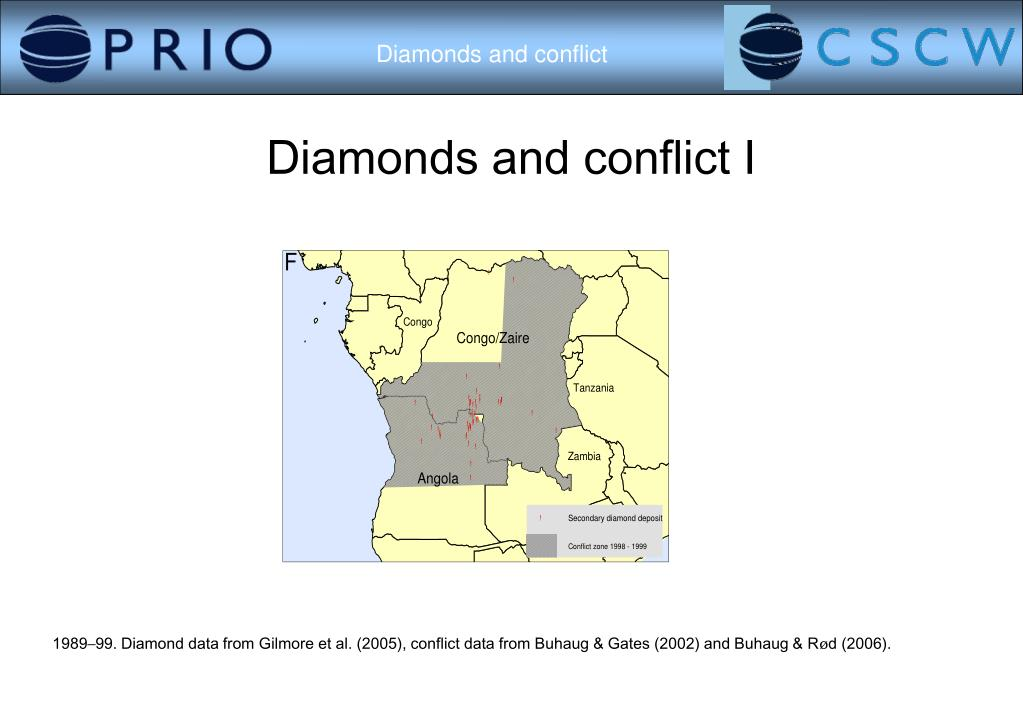 Diamonds and conflict I