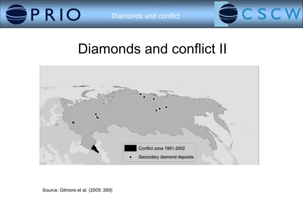 Diamonds and conflict II
