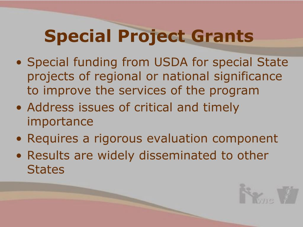 Special Project Grants