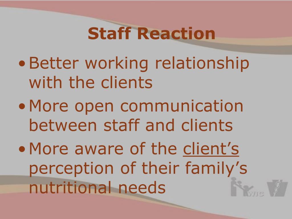 Staff Reaction