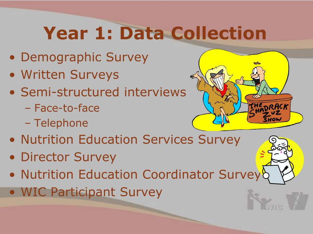 Year 1: Data Collection