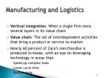 manufacturing and logistics42