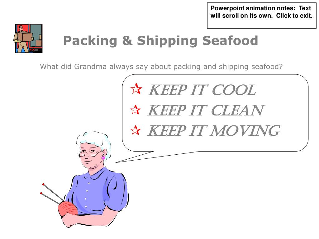 packing shipping seafood l.