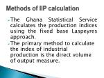 methods of iip calculation