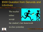 500 question from gerunds and infinitives