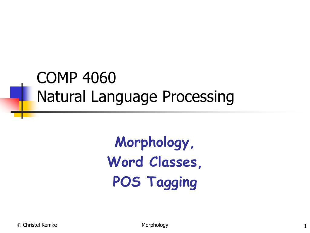 comp 4060 natural language processing l.