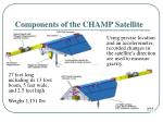 components of the champ satellite