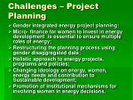 challenges project planning