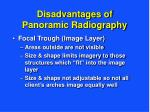 disadvantages of panoramic radiography11