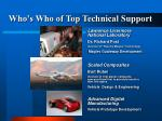 who s who of top technical support