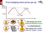 price hedging when prices go up