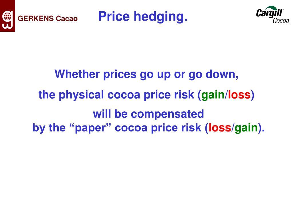 Price hedging.