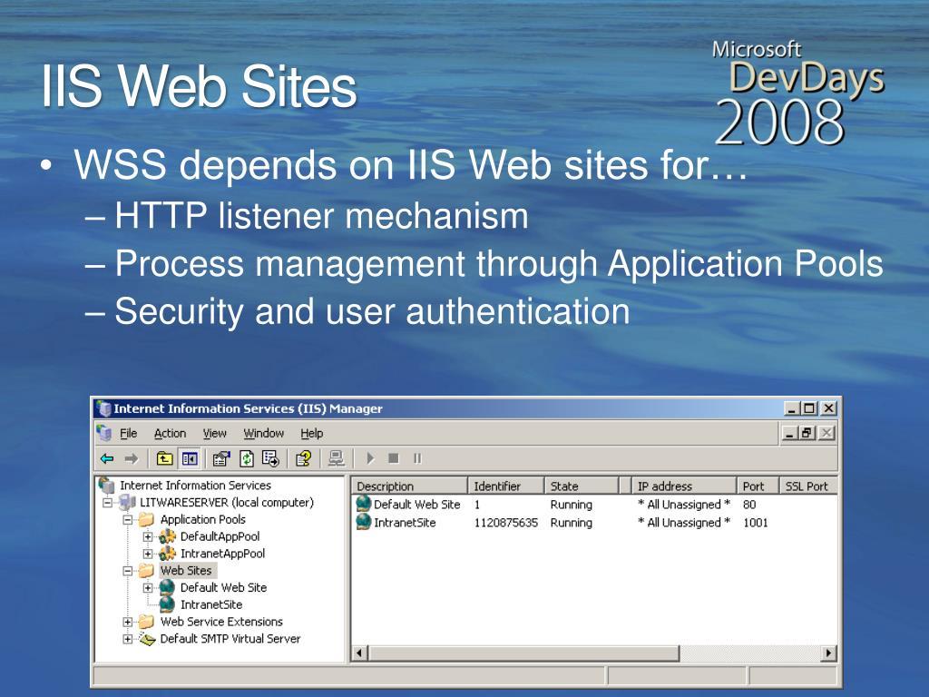 IIS Web Sites