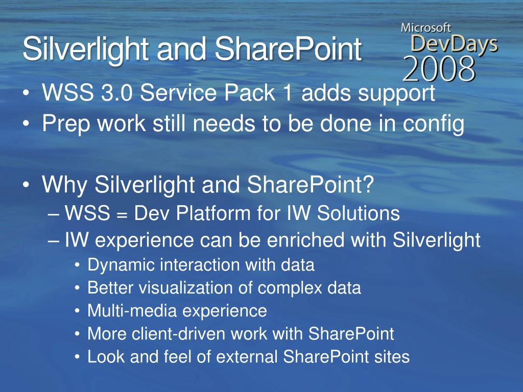 Silverlight and SharePoint