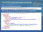 the wss extended web config file