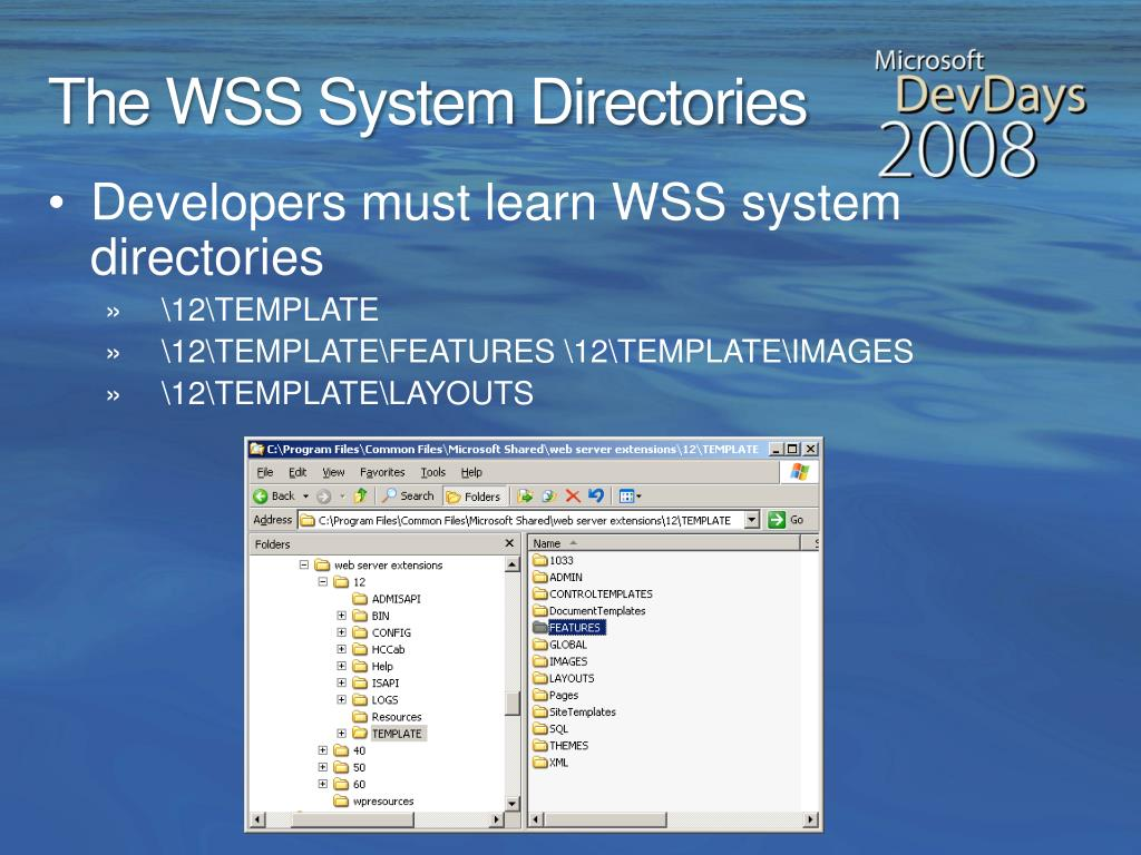 The WSS System Directories