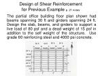design of shear reinforcement for previous example p 21 notes