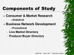 components of study
