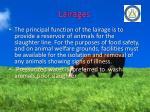 lairages