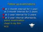 follow up examinations71