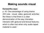 making sounds visual