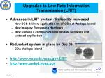 upgrades to low rate information transmission lrit