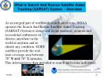 what is search and rescue satellite aided tracking sarsat system overview
