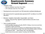 requirements summary ground segment continued20