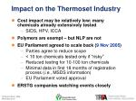 impact on the thermoset industry