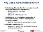 why global harmonization ghs
