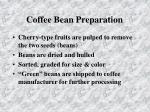 coffee bean preparation