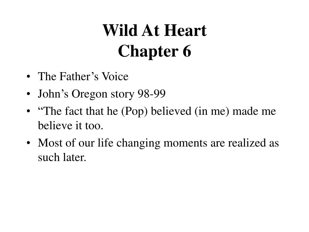 wild at heart chapter 6 l.