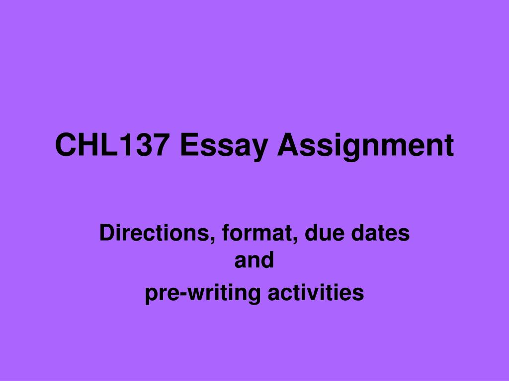 chl137 essay assignment l.