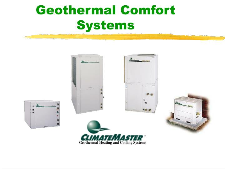 geothermal comfort systems n.