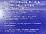 emotional intelligence the ability to manage ourselves and our relationships effectively21