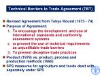 technical barriers to trade agreement tbt