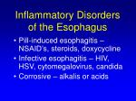 inflammatory disorders of the esophagus