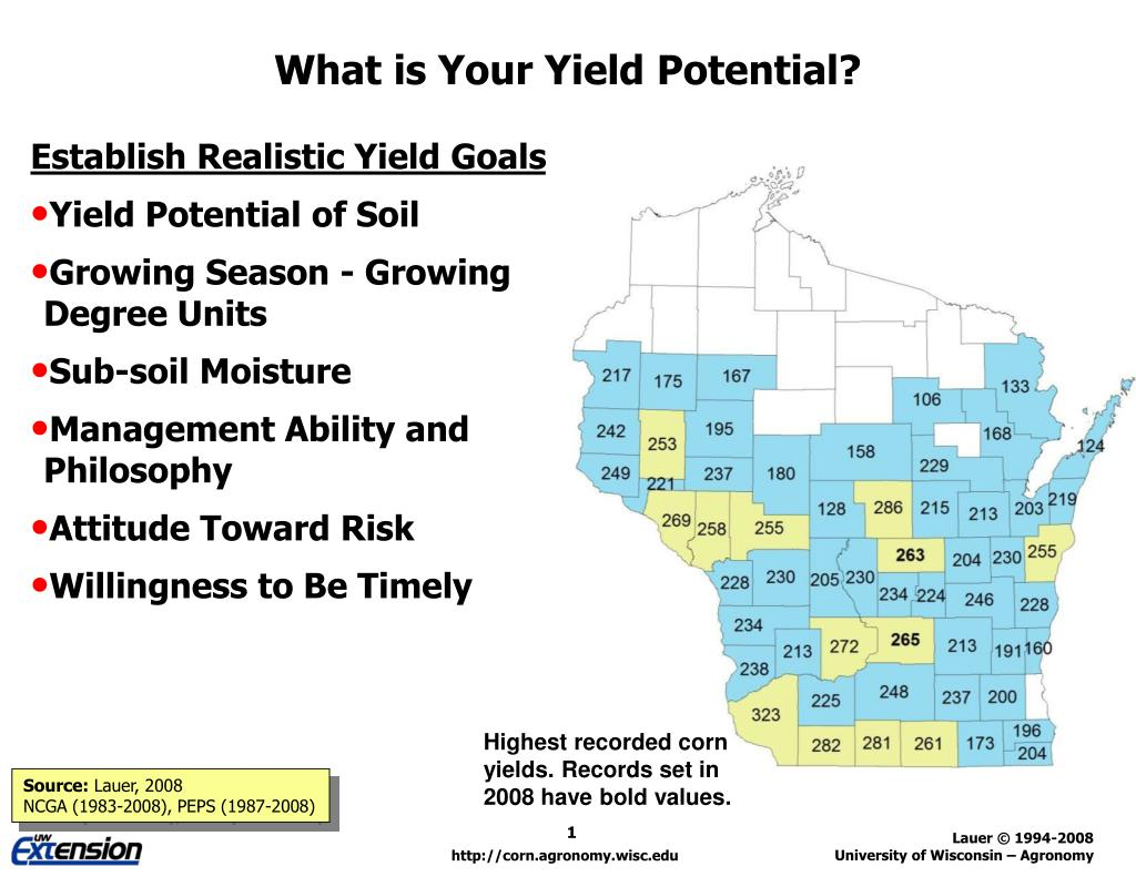 what is your yield potential l.
