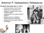 anterior p homeostatic imbalances