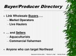 buyer producer directory