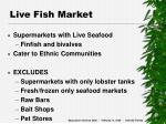 live fish market