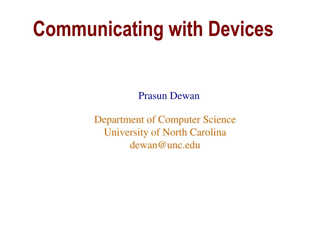 communicating with devices l.