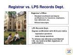 registrar vs lps records dept
