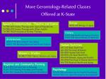 more gerontology related classes offered at k state
