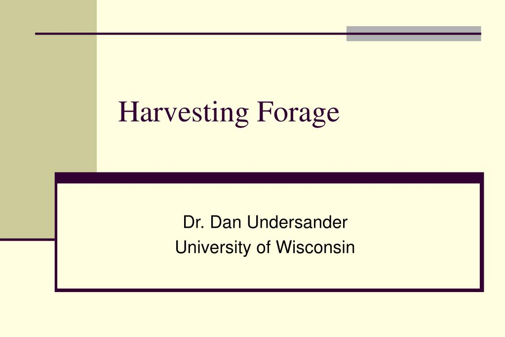 harvesting forage l.