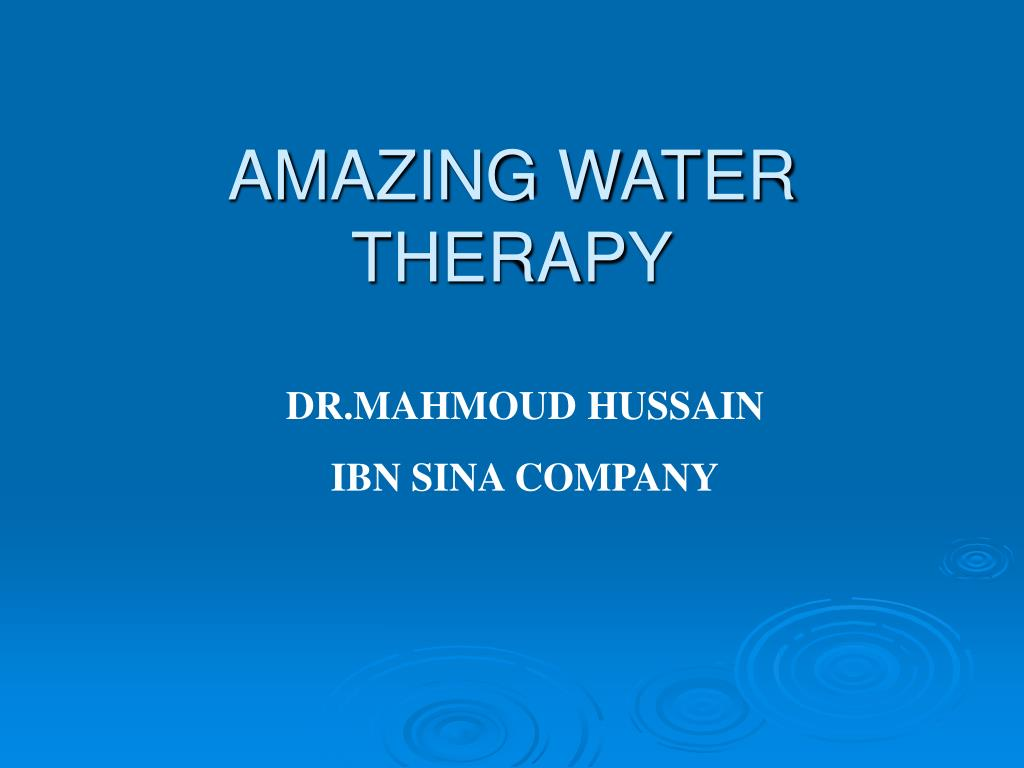 amazing water therapy l.