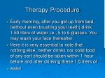therapy procedure