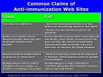 common claims of anti immunization web sites1