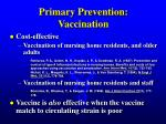 primary prevention vaccination