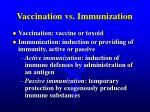 vaccination vs immunization